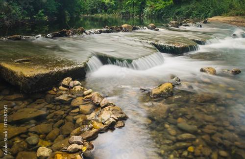 Fotobehang Bleke violet Rapids on the river