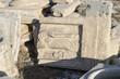 Fragmente auf der Akrokopis in Athen