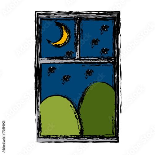 Cityscape window view icon vector illustration graphic design - 170594001