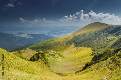 Aluminium Zomer Summer landscape in mountains