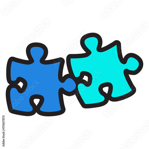 Isolated pieces of a puzzle, Vector illustration