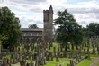 scenery of Stirling Castle in Scotland with the church and the medieval cemetery...