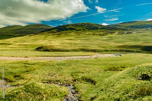 Fotobehang Pistache panorama of Scotland Highlands in England