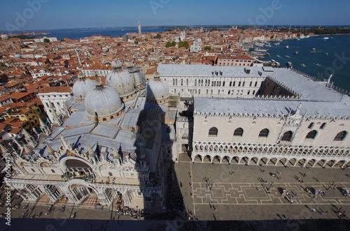 Foto op Plexiglas Venetie Aerial view of St.Mark's square in Venice