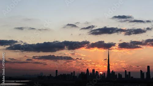 Fotobehang Dubai Dubai Sunset