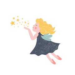 Hand drawn vector fairy