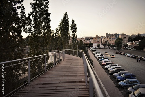 Fotobehang Cyprus Cyprus, Limassol view, descent from the bridge.