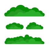 Set of cartoon green bushes - 170704061