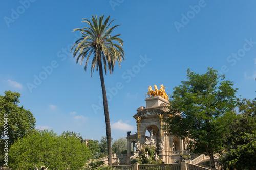 Aluminium Barcelona Cascada Fountain in the Park Citadel in Barcelona, Spain. The Park is also called Ciutadella Park. Barcelona is the capital of Catalonia