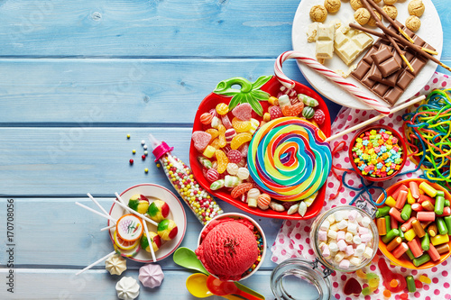Colorful childs sweets and treats Poster