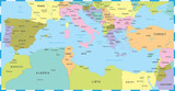 Mediterranean sea Map - Vector Illustration - 170718288