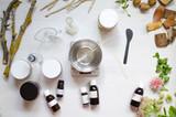 Moroccan soap preparation. Natural cosmetics recipe. Essential oils and herbal composition ingredients - 170720225