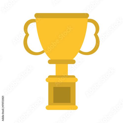 trophy cup  prize icon image vector illustration design