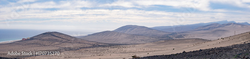 Foto op Canvas Canarische Eilanden Panorama of the mountain range in the Canary Islands Spain