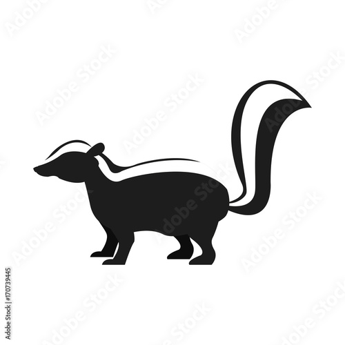 Fotobehang Zoo Skunk animal cartoon icon vector illustration graphic design
