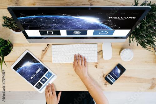 responsive website website overhead devices