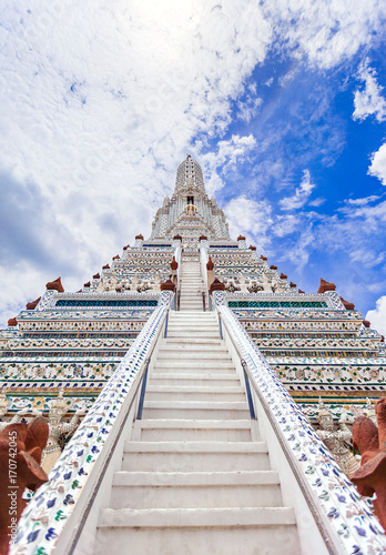 Wat Arun The Temple of Dawn Landmark of Bangkok, Thailand Poster