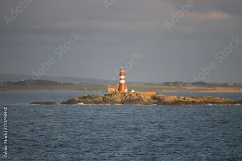Fotobehang Vuurtoren Lighthouse in Rogaland county, Norway.