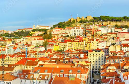 Fotobehang Palermo Lisbon Old Town view, Portugal