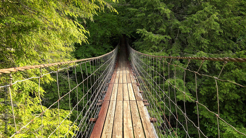 Walking Across Suspension Bridge POV at Fall Creek Falls, Tennessee