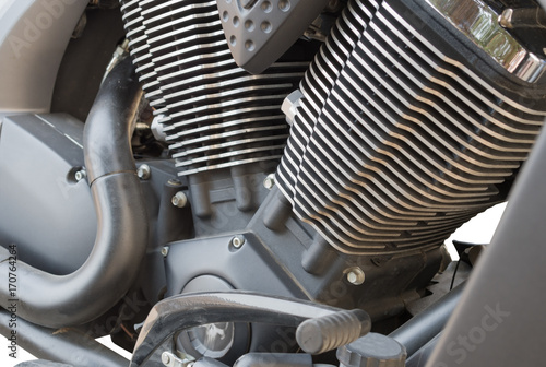 Plakat motorcycle chrome metal grille