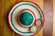 Mexican hat and salsa