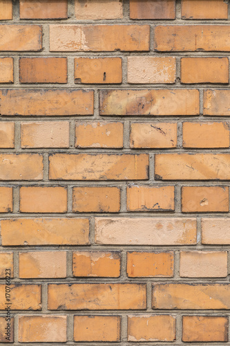 Foto op Plexiglas Baksteen muur old yellow brick wall background