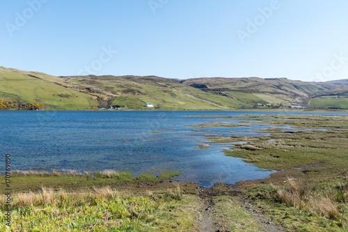 Aluminium Blauwe hemel Scenic natural view of Scottish Highlands, United Kingdom