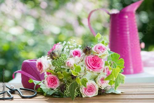 Fridge magnet Blumen binden
