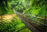 Suspension bridge in the jungle near Chiang Mai - 170779616