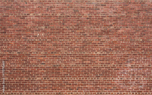 Naklejka Red Brick Wall with Horizontal Pattern