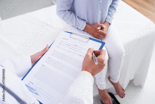 Filling medical paper
