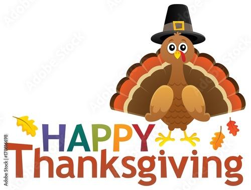 Fotobehang Voor kinderen Happy Thanksgiving theme 5