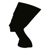 Vector silhouette of Nefertiti. - 170821480