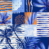Watercolor tropical summer seamless pattern. - 170823496
