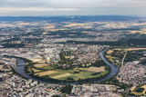 aerial of Hanau near Frankfurt with river Main loop - 170823674