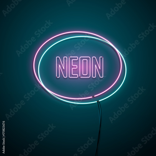 Neon sign. Vector illustration.