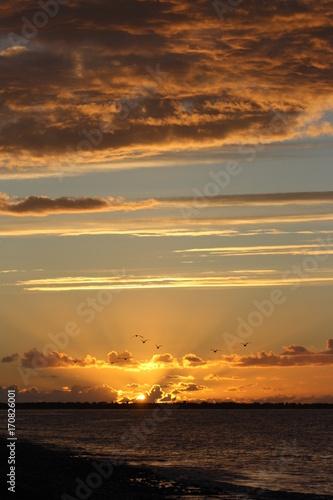 Foto op Plexiglas Zee zonsondergang couché de soleil