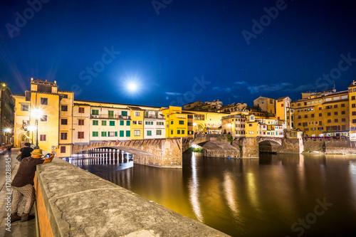 Fotobehang Florence Ponte Vecchio, Florenz