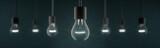 Light bulbs in a row as panorama - 170832426