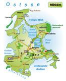 Insel Rügen mit Verkehrsnetz - 170838282