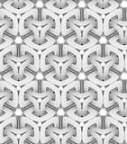 monochrome geometric chain, 3D print, seamless decorative wallpaper