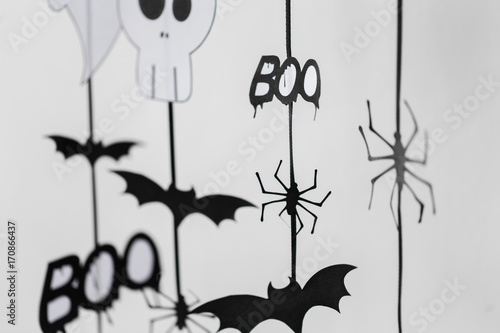 halloween party paper garlands or decorations