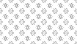 Atom sign icon seamless pattern vector illustration , For used as tiling