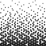 Abstract geometric vector, hipster fashion design print, halftone triangle pattern.  - 170878402