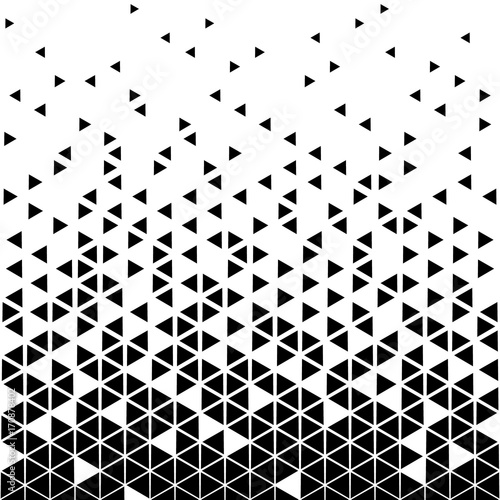 Abstract geometric vector, hipster fashion design print, halftone triangle pattern.