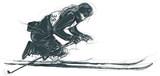 Para Cross-Country Skiing. Para Sport and Movement. An hand drawn multi-layered vector. - 170880481