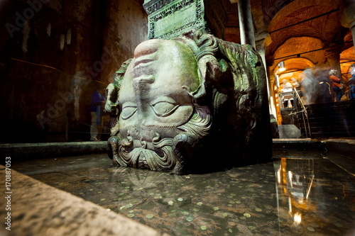 Basilica Cistern is the largest of several hundred ancient cisterns that lie ben Poster