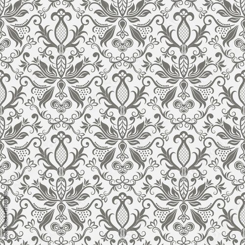 Damascus pattern. Seamless vintage background - 170889415