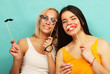 life style and people concept: stylish girls   ready for party